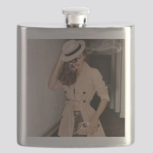 Femme Fatale Smoking and Guns Flask
