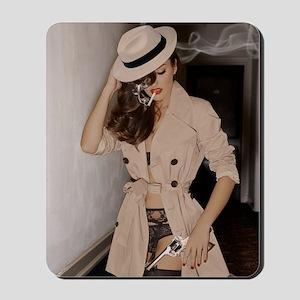 Femme Fatale Smoking and Guns Mousepad