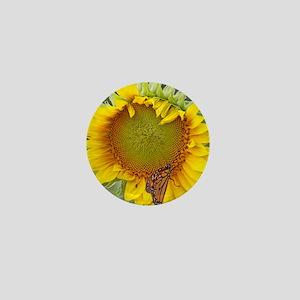 sunflower  butterfly Mini Button