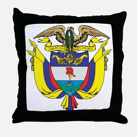 Colombia COA Throw Pillow