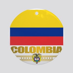 Flag of Colombia Round Ornament