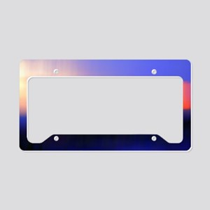 Abstract Sunset License Plate Holder