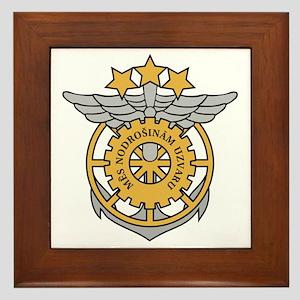 Latvian LC emblem Framed Tile