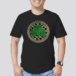 Shamrock And Celtic Kn Men's Fitted T-Shirt (dark)