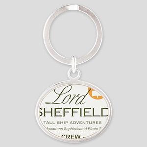 Lord Sheffield Emblem Clear Oval Keychain