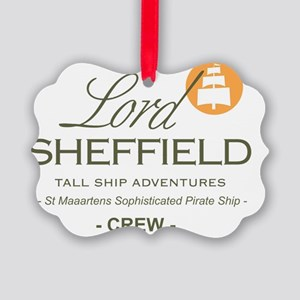Lord Sheffield Emblem Clear Picture Ornament