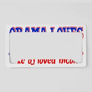 obamalovesamerica License Plate Holder