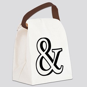 &, ampersand sign with shadow Canvas Lunch Bag