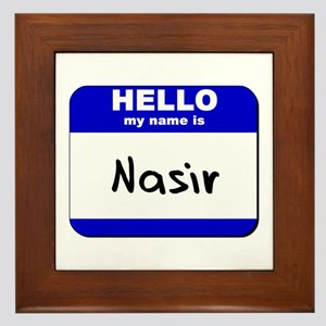 hello my name is nasir  Framed Tile