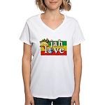 Jah Love Women's V-Neck T-Shirt