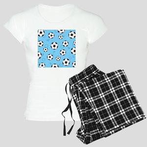 Cute Soccer Ball Print - Bl Women's Light Pajamas