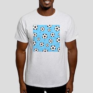 Cute Soccer Ball Print - Blue Light T-Shirt