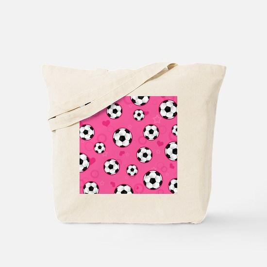 Cute Soccer Ball Print - Pink Tote Bag