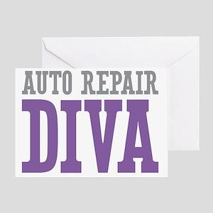 Auto Repair DIVA Greeting Card