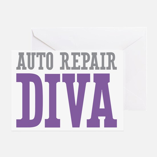Auto Repair DIVA Greeting Card