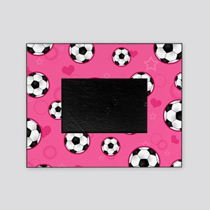 Cute Soccer Ball Print - Pink Picture Frame