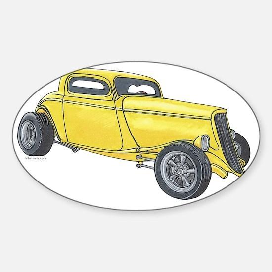 1933 High Boy Coupe 2 Sticker (Oval)