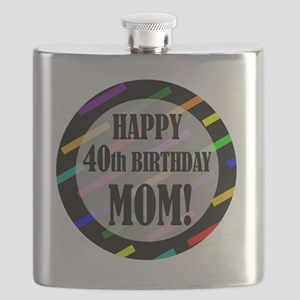 40th Birthday For Mom Flask
