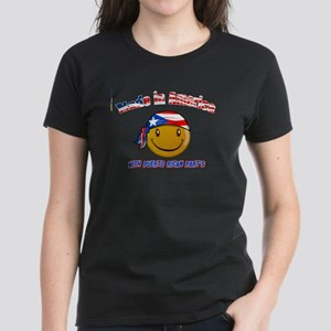 Puerto rican and American Women's Dark T-Shirt