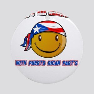 Puerto rican and American Ornament (Round)
