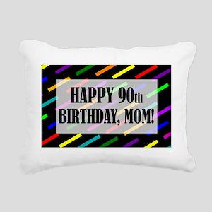 90th Birthday For Mom Rectangular Canvas Pillow