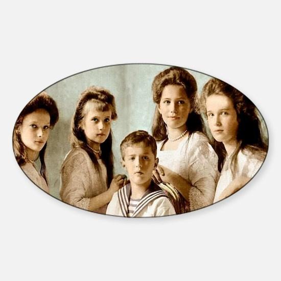 Romanov Children Sticker (Oval)