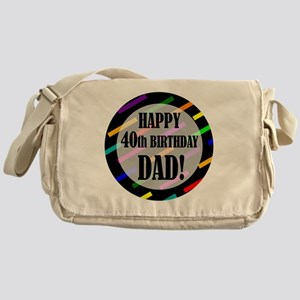 40th Birthday For Dad Messenger Bag