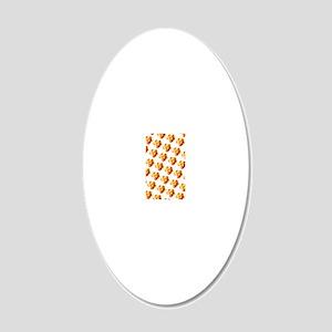 Orange Gold Floral Splendor  20x12 Oval Wall Decal