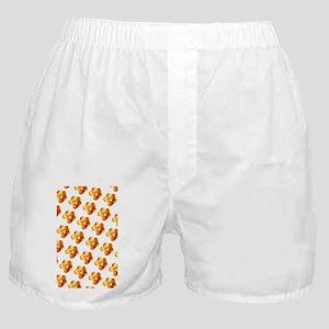 Orange Gold Floral Splendor 23 Boxer Shorts