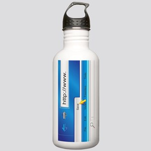 Web Page Browser Stainless Water Bottle 1.0L