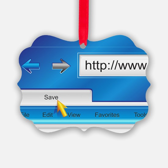Web Page Browser Ornament
