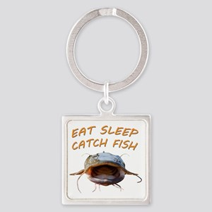 Eat sleep catch fish Square Keychain