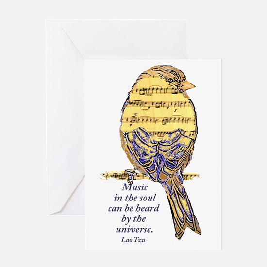 Music in the Soul quote  Music Note  Greeting Card