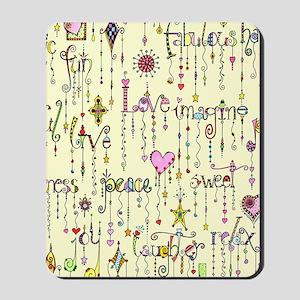 Zentangle Positivity Mousepad