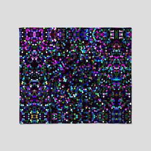 Mosaic Glitter 1 Throw Blanket