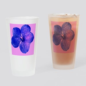 Pink Blue Floral for Al B. 23 Drinking Glass