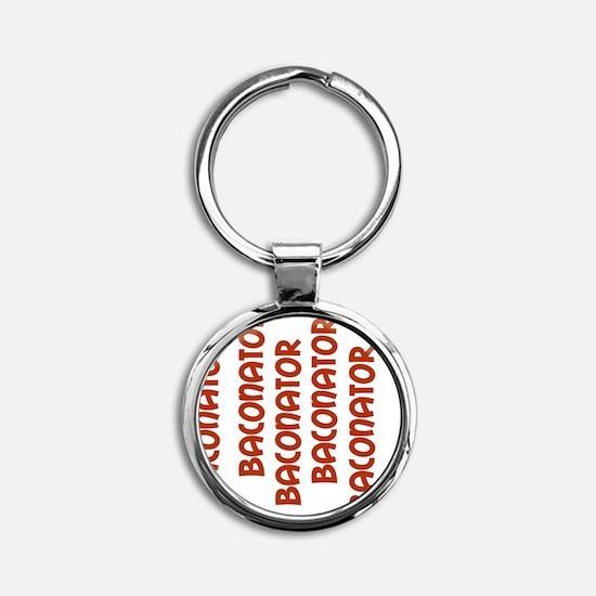 Baconator Baconator Strips Round Keychain