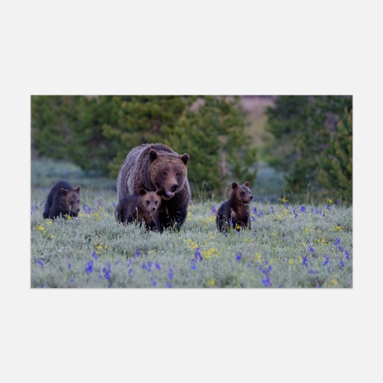 Grizzly Bear# 399  Triplets Wall Decal