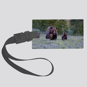 Grizzly Bear# 399  Triplets Large Luggage Tag