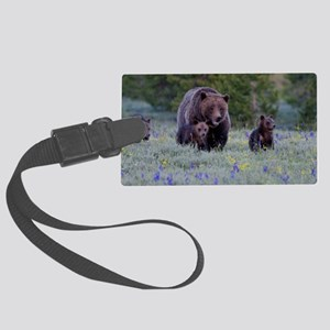 Grizzly Bear# 399  Triplets, Jun Large Luggage Tag
