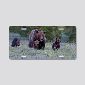 Grizzly Bear# 399  Triplets Aluminum License Plate