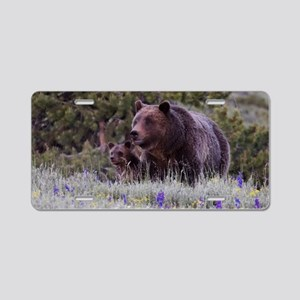 Grizzly Bear 399  Triple Cu Aluminum License Plate