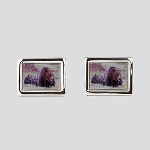Grizzly Bear 399 and Triplet Cubs Cufflinks