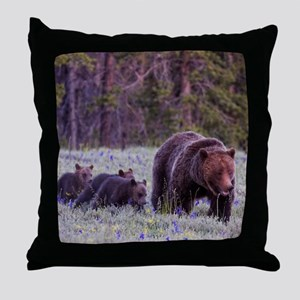 Grizzly Bear 399 Throw Pillow