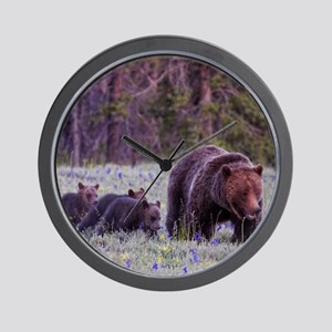 Grizzly Bear 399 Wall Clock