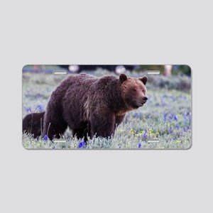 Grizzly Bear 399, Grand Tet Aluminum License Plate