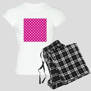 Pink White Polka Dot Patter Women's Light Pajamas