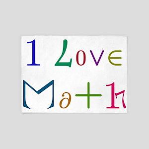 I Love Math 5'x7'Area Rug