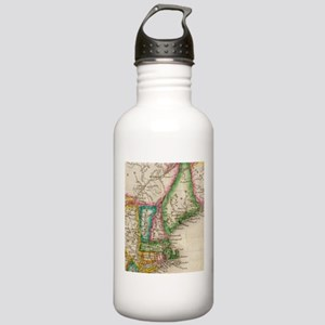Vintage Map of New Eng Stainless Water Bottle 1.0L