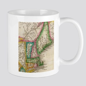 Vintage Map of New England (1822) Mugs